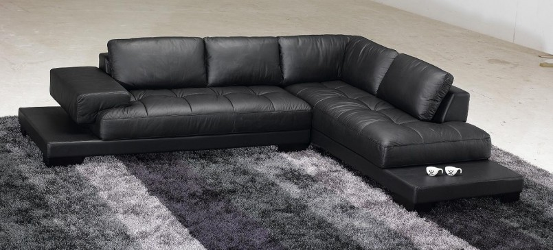 Lumber Classic 5 Seater Sectional Leather Sofa With Fully Upholstered Wood-Framed Base