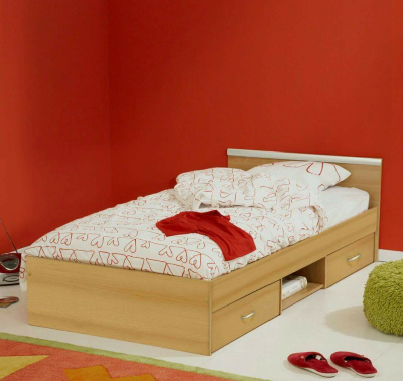 Yankees Single Bed With Base Storage