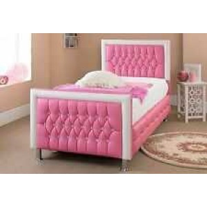 Aida Classic Upholstered Single Bed