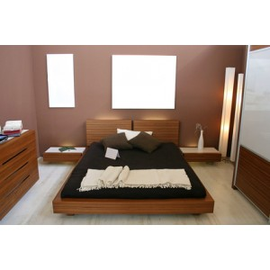 Dozzy Lowrise Bed Series, Head Board, Bed Frame And Twin Night Stands. King Size