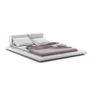 Extreme Lowrise Leather Upholstered King Size Bed Set