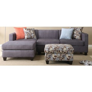 Tasha 5 Seater Sectional Fabric Sofa With Ottoman