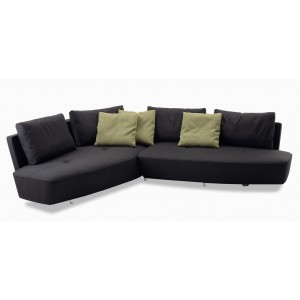 Toju 6 Seater Curvy Sectional Fabric Sofa